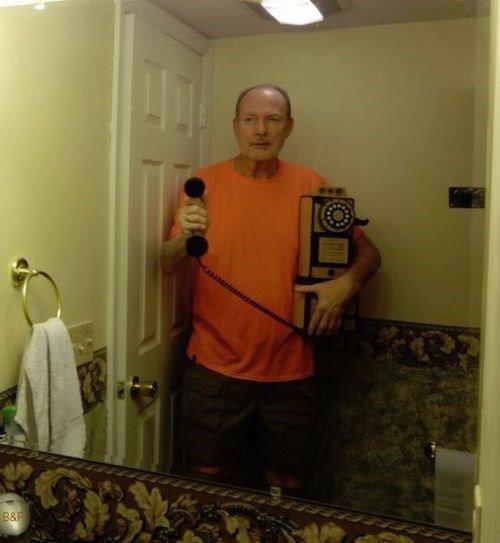 Grandpa took a selfie.. No flash, he wins... But who was camera? Grandpa took a selfie No flash he wins But who was camera?