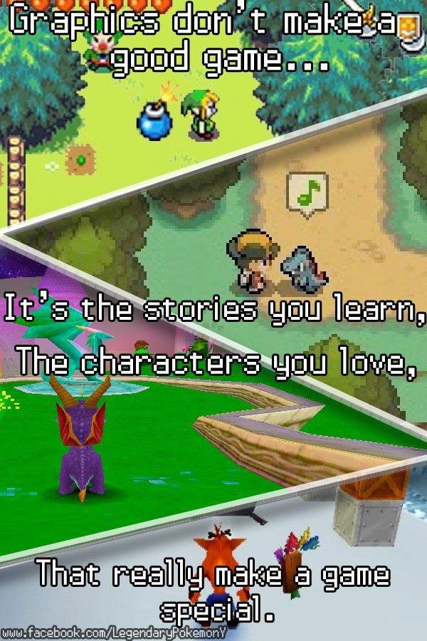 Graphics don't make a good game.. . Graphics don't make a good game