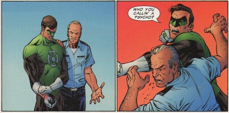 Green Lantern Kingpin Best Line EVER. so a mash up of GREEN LANTERN comic/meme and the best line from the KINGPIN film.. Green Lantern hal joradn kingpin psycho funny meme random Punch