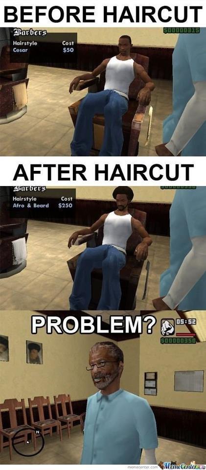 GTA logic. Found on FB. Thought I'd share.. R-R-R-R-R-R-R-R-Repost!!!!! gta logic hair cut