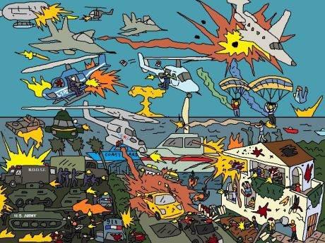 GTA V Mulitplayer. .. looks like a Where's Waldo gone wrong no relevant pic GTA V Mulitplayer looks like a Where's Waldo gone wrong no relevant pic