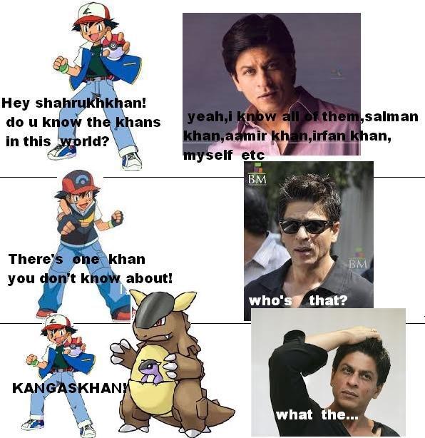 kangaskhan shahrukh khan. . what the.... What? kangaskhan shahr