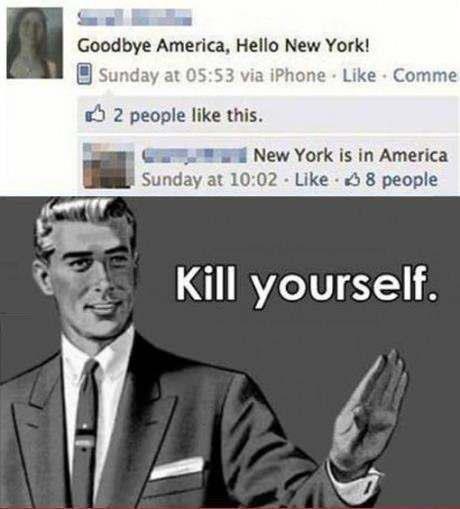 "kill yourself. . Goodbye A. meric:: e, Hem: New York! Burma? at 05: 53 we a' Phione - Like - Comma til "" people We this. New York is in America Sunday .'ili 10: kill yourself Goodbye A meric:: e Hem: New York! Burma? at 05: 53 we a' Phione - Like Comma til "" people We this York is in America Sunday 'ili 10:"
