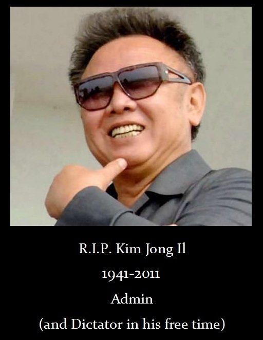 Kim Jong Il. .. Looks like his Korea is over.. Kim Jong Il Looks like his Korea is over
