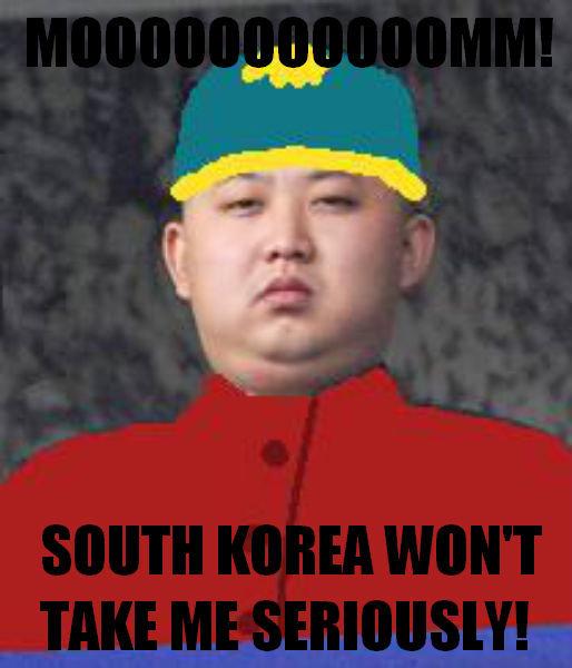 Kim Jong Cartm-Un 3. blah blah thumbs blah blah.. Fixed! kim jong UN south Park