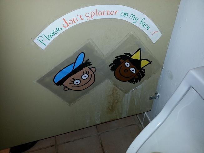 Kindergarten. .. I've seen things Toilet