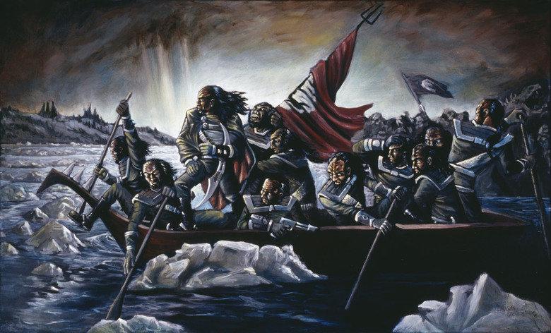 Klingon's Crossing The Delaware. .. NOOOOOOOOOOOOOOOOOOOOOOO! Klingon's Crossing The Delaware NOOOOOOOOOOOOOOOOOOOOOOO!