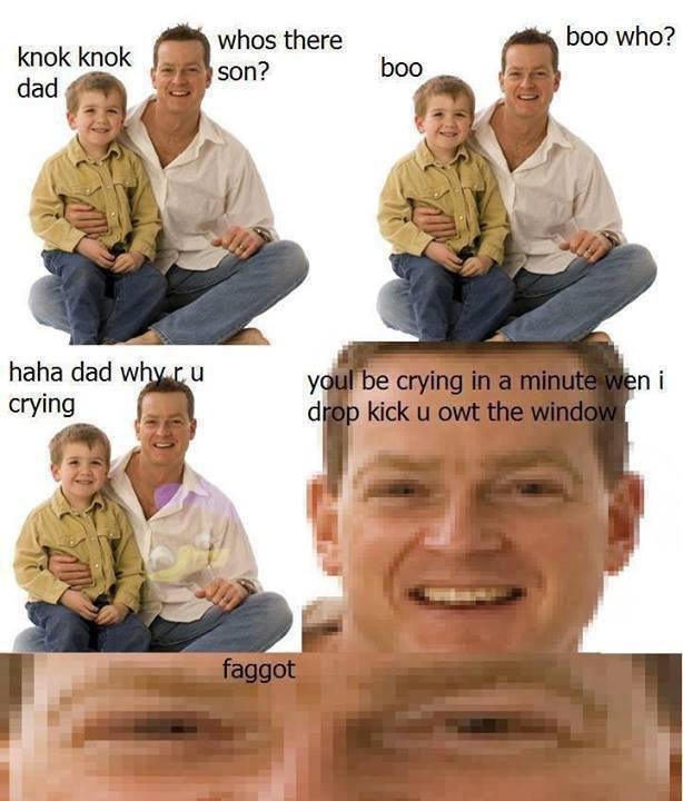 Knok Knok Dad. . ham dad w fite me IRL faget