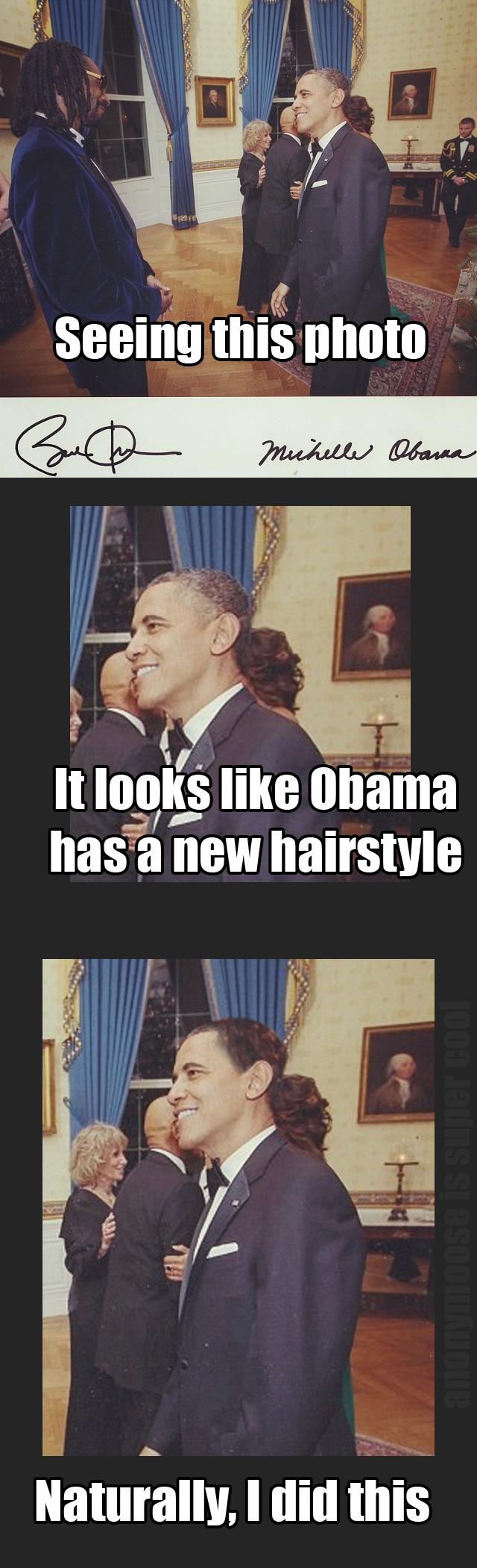 Obama got a new weave. Watching snakes poop is very very odd. www.youtube.com/watch?v=-eqVjdKtD44 ! I GOT THE BACKGROUND COLOUR WRONG!.. OG Obama got a new weave Watching snakes poop is very odd www youtube com/watch?v=-eqVjdKtD44 ! I GOT THE BACKGROUND COLOUR WRONG! OG