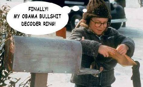 Obama Bullshit Decoder Ring. Finally!. DECICDED rams:. Ovaltine! Obama Bullshit Decoder Ring Finally! DECICDED rams: Ovaltine!