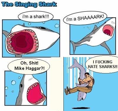 Oh Shi-. .. its tag team time Mike Haggar Shark Dick Singing
