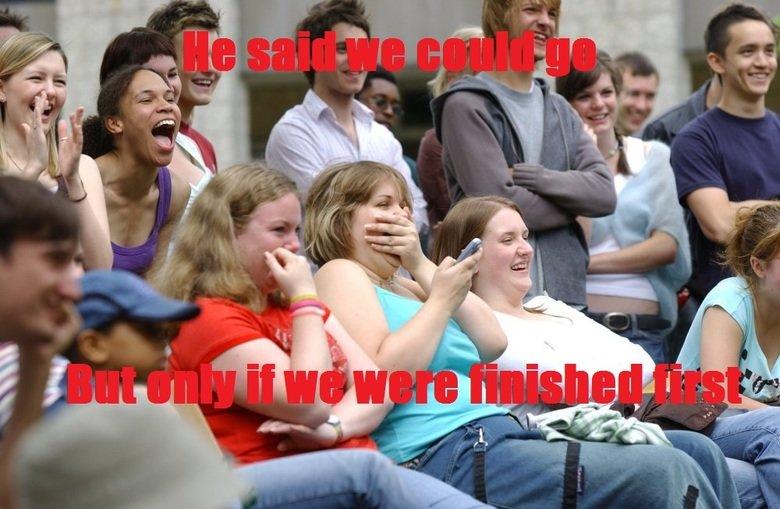 oh teacher. .. TheNorwegianSmurf TheNorwegianSmurf TheNorwegianSmurf TheNorwegianSmurf of course everyone finish first