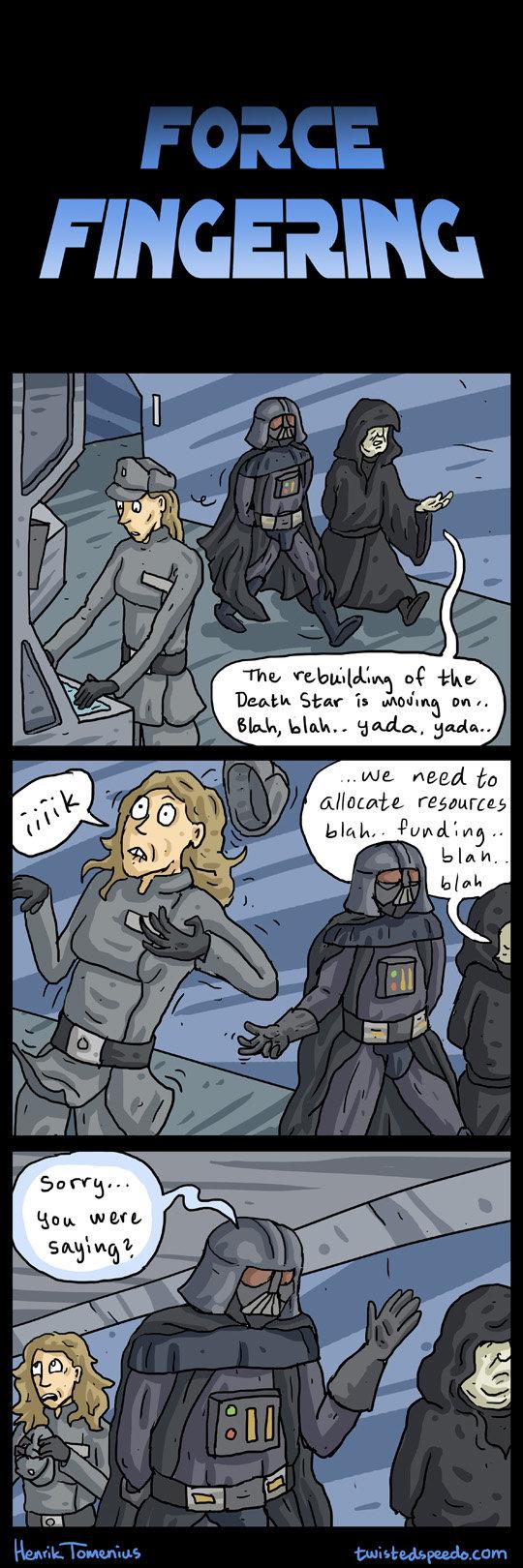 Oh Vader.... Check out more comics here twistedspeedo.com/. Elias] ! -thy. More like Darth Invader vaders a Pimp