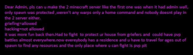 Old Server. . Minecraft server