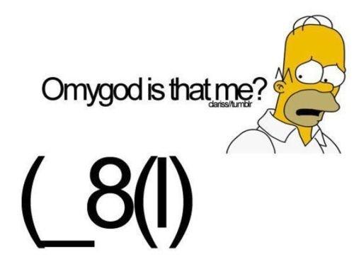 OMG Thats me. .. (_>8( ) BART!!! Homer funny lalA
