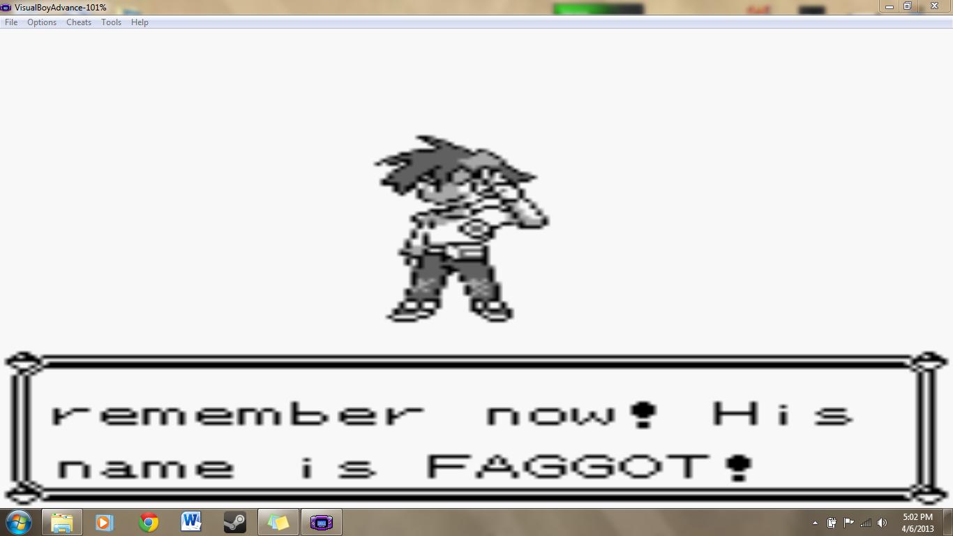OP plays Pokemon. .. How original Pokemon OP faggot