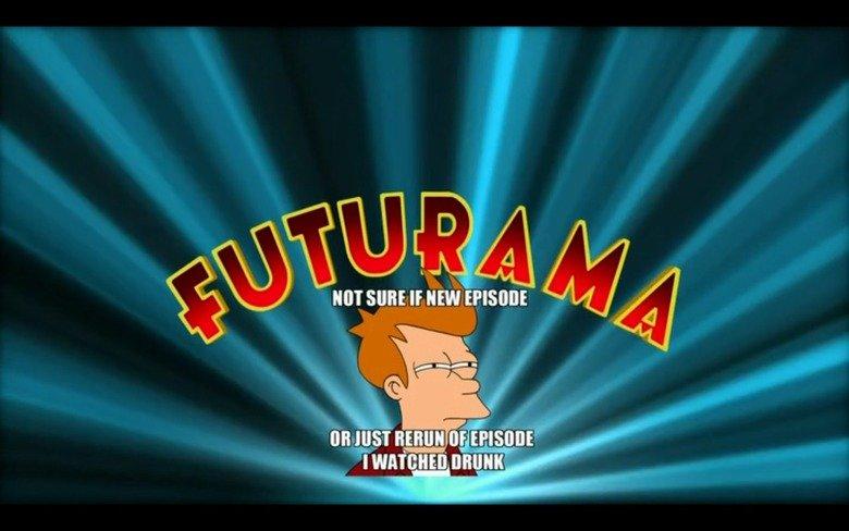 Opening Title of New Futurama Season. .. ah sorry, from the uk it airs tonight, my bad Futurama
