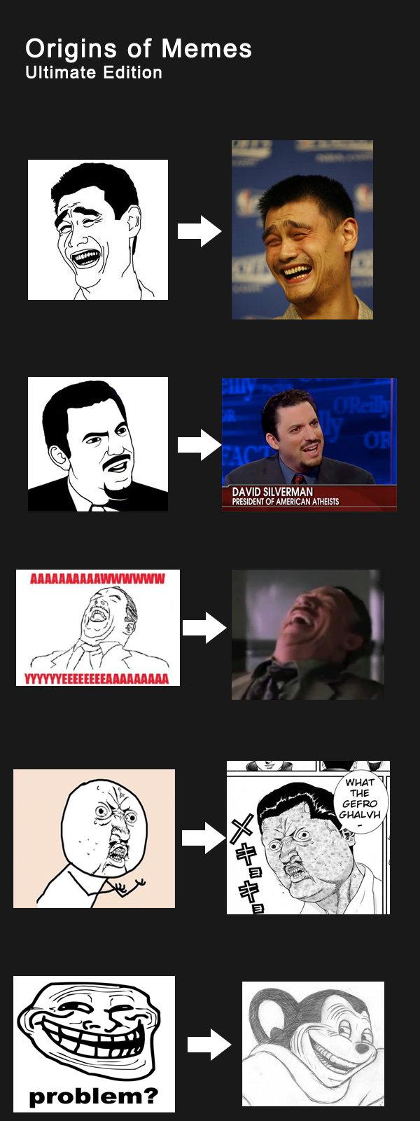 "Origin of Memes. . Origins of Memes Ultimate Edition DAVE) SILVERKA PERSIDENT In AMERICA problem?. ""Ultimate Edition""= 5 memes origin of MEMES"