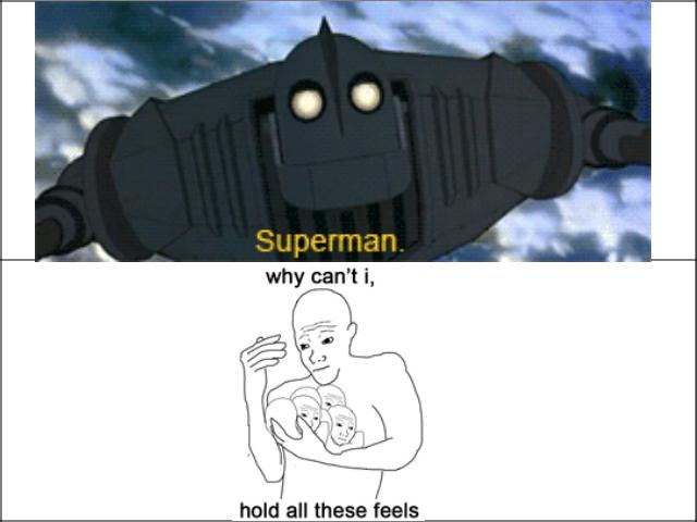 Sad ass nostalgia. The saddest part of the best movie.. hold all these feels baww sad iron man Superman