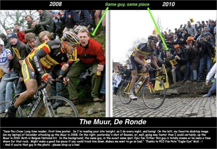 Same guy same place. same face. cycling Fan funny fan story rage fan funny face