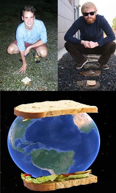 SANDWICH. two brave men create world's largest sandwich. SANDWICH two brave men create world's largest sandwich