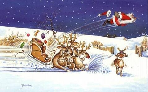 Santa gonna be late this year. . Santa gonna be late this year