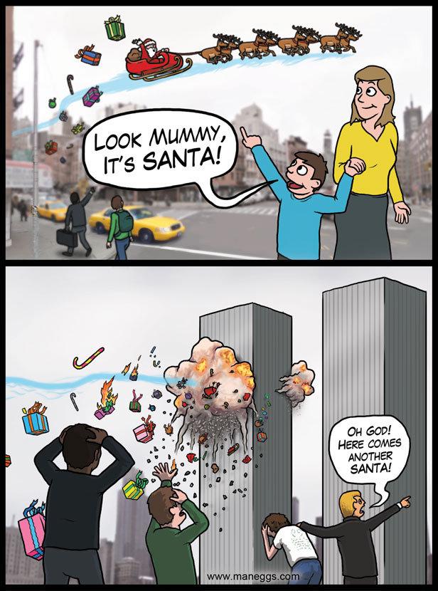 Santa in New York. Merry Christmas, FJ!<br /> !!!!.. so 12/25? Santa in new york twin towers Christmas i fucking Love You