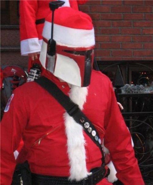 Santa Fett. Ho Ho Ho...said Jabba.. santa fett star wars Christmas