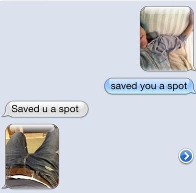 Saved You A Spot. . saved you a spot Saved u a spot. what a charmer. Saved You A Spot saved you a spot u what charmer