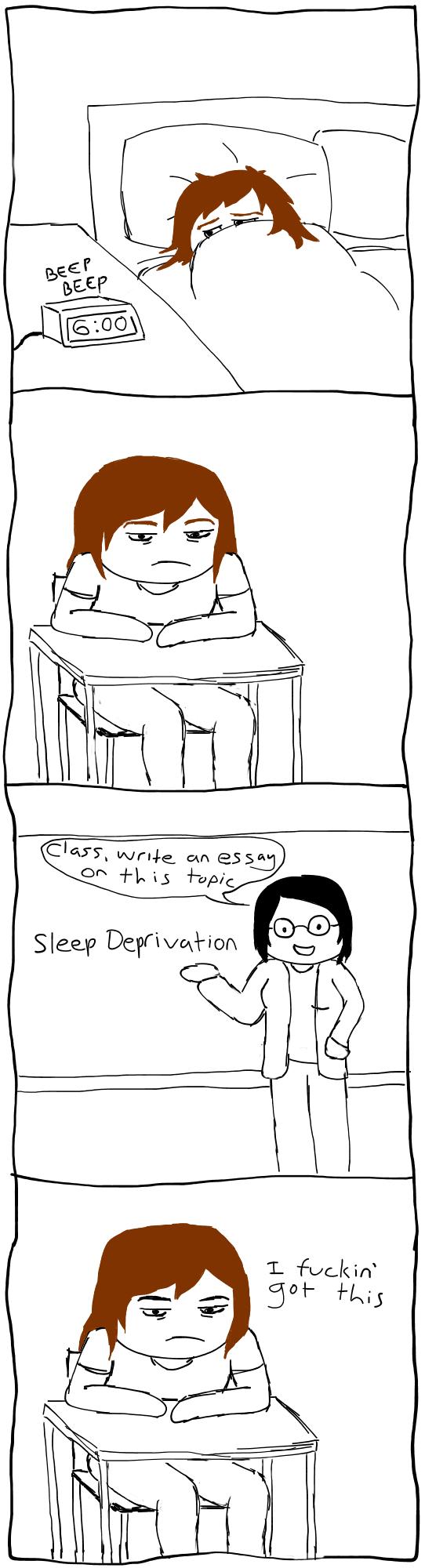 School. .. sparkyoneonetwo comic School Tired sleepy essay