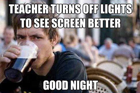school. .. In third grade. Teacher turns off light. retard in the back screams. school In third grade Teacher turns off light retard in the back screams