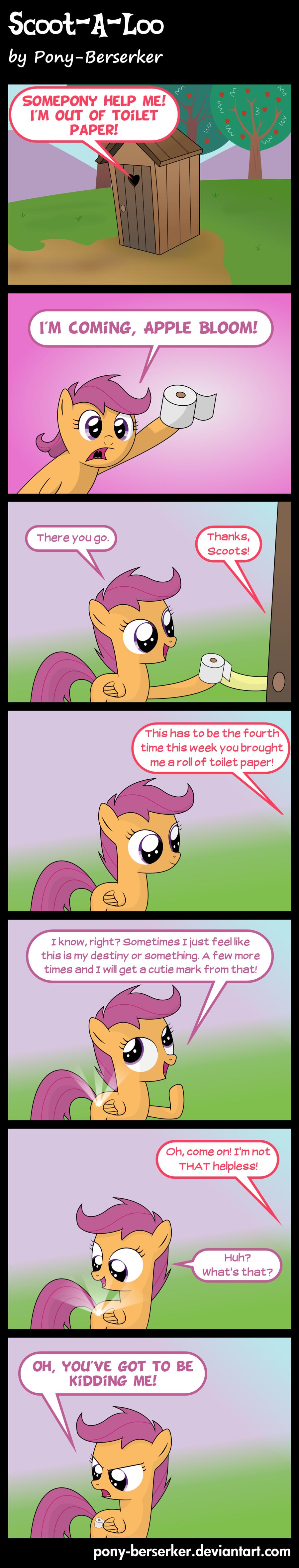 Scoot-A-Loo by ~Pony-Berserker. . Scoot-A-Loo by ~Pony-Berserker