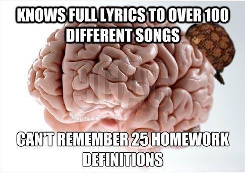 "Scumbag Brain. This has always bugged me...... iligal[ i. r ' lilili suns?"" lil ll {mu E "" iii ill ! lailii?. Nice 9gag watermark :| Scumbag Brain"