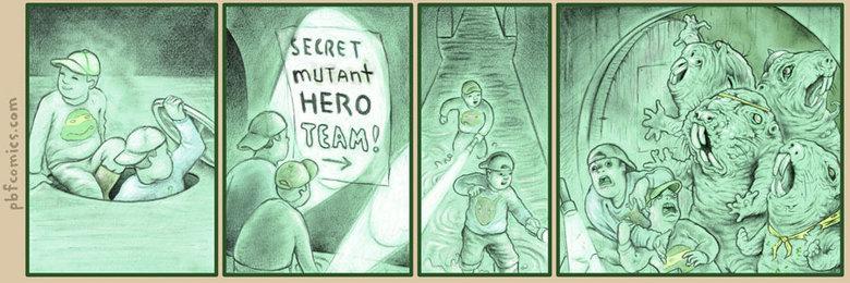 Secret Mutant Hero Team. . Secret Mutant Hero Team