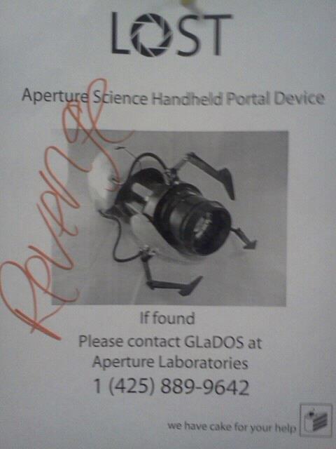 Seems Legit. . Mound Please contact at Aperture Laboratories portal gun