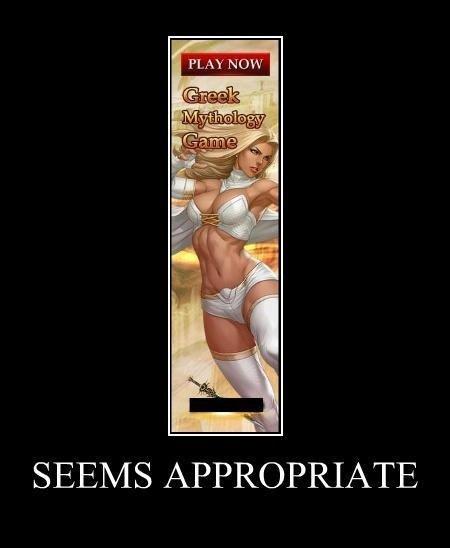 seems appropriate. . PLAY NOW SEEMS APPROPRIATE. WAIDAMINNIT... I see you Emma Frost greek Mythology