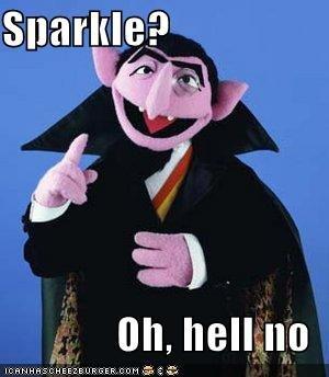Sesame Street Vampires. Still have more sense the Twilight... i lol'd so hard i got diarrhe-ah-ah-ah twilight Vampire sesame street WTF Sparkel hello no