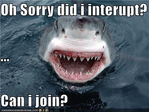 """Shark. . Oh """". interrupt? can ll in? Shark water interupt sex"""