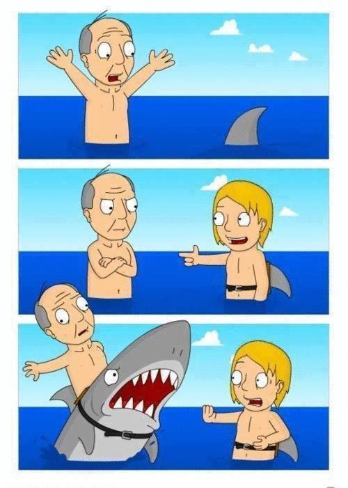 Sharktreat. watch out for old men. old men Shark treat boy trick