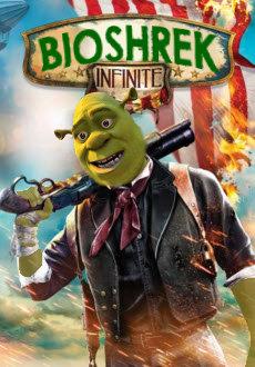 Shrek. Found this on my newsfeed. Facebook page is Shrek is Love, Shrek is Life Link: www.facebook.com/ShrekisloveShrekislife. Shrek Bioshock