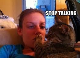 Shutup. . cat hush