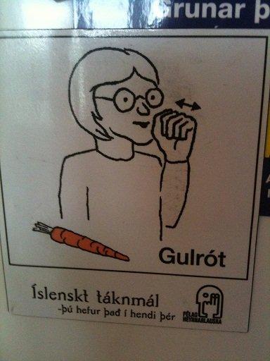 Sign Language. Carrot in sign language. fail bj Carrot sign language