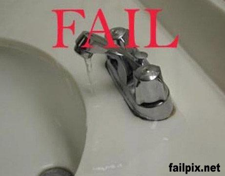 Sink Faucet FAIL. Sink Faucet FAIL.. am i missing the funny part this sucks FAIL sink faucet