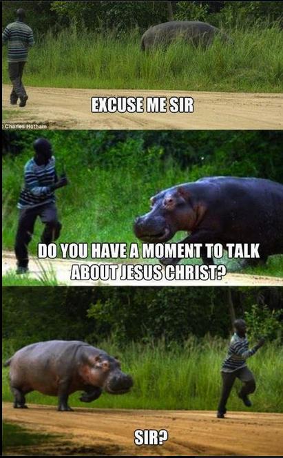 Sir!. . virii, i, irr, black guy Hippo Jesus Running