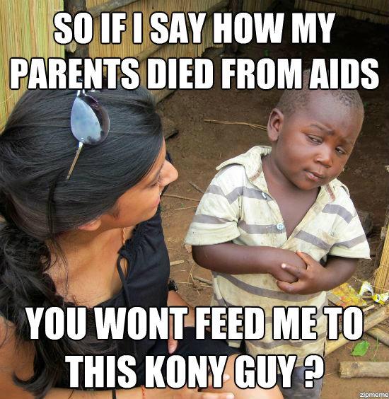 skeptical 3rd world child. . Kony blacks