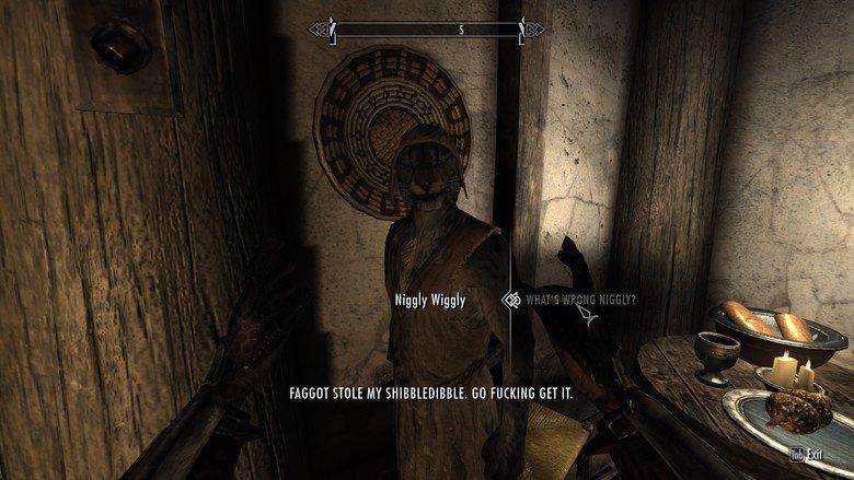 Skyrim Side-Quests. In a nutshell. FAGGOT HOLE MY . (ill FUCKING GET IT. Skyrim Side-Quests In a nutshell FAGGOT HOLE MY (ill FUCKING GET IT