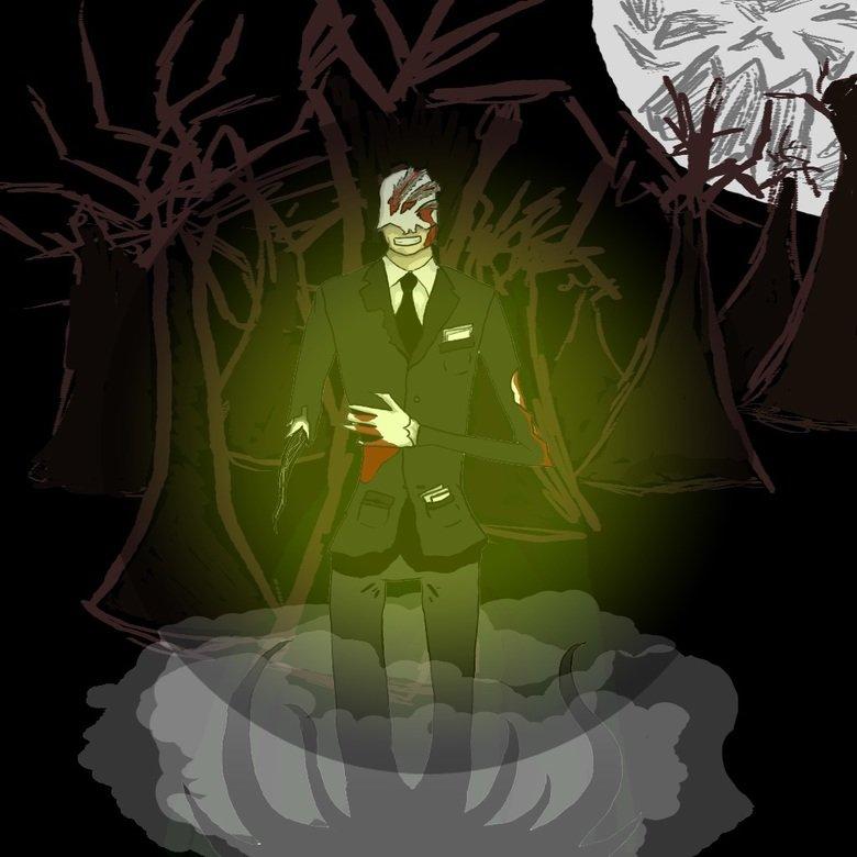 Slenderman OC. My OC artwork; Slenderman: Behind The Mask. slender Slenderman