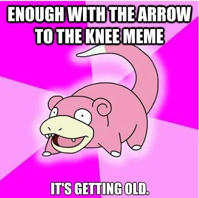 Slowpoke. 100% OC. Sorry if the idea's been made already.. slowpoke arrow to the Knee