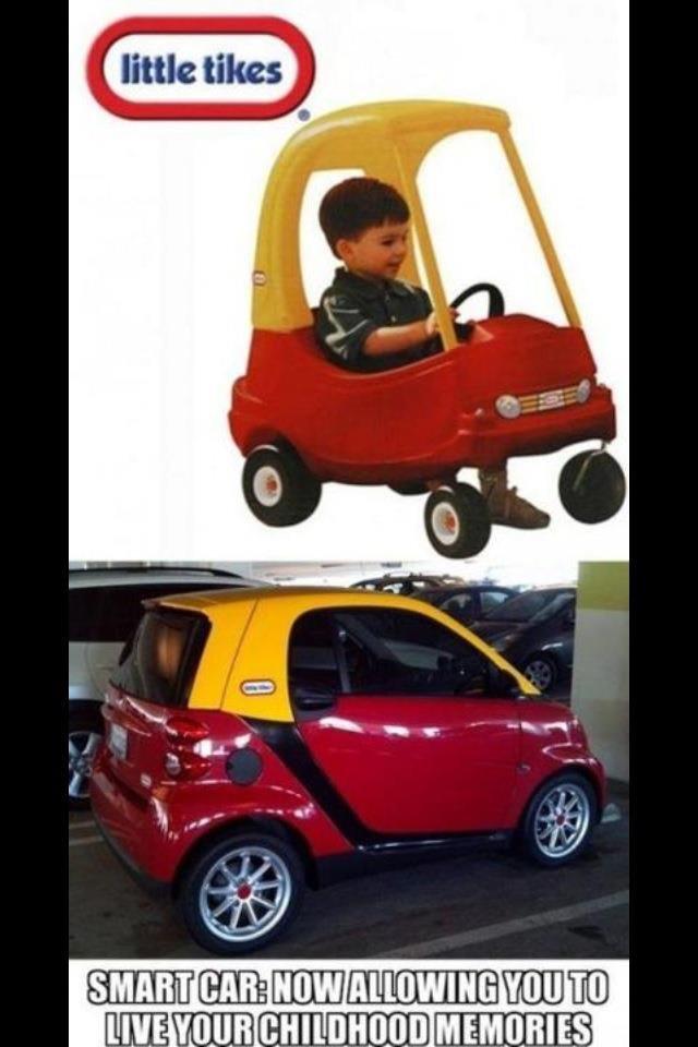 Smart Car Win. Childhood - Restored... Maximum speed? The exact same. smart car childhood Kid little tyke