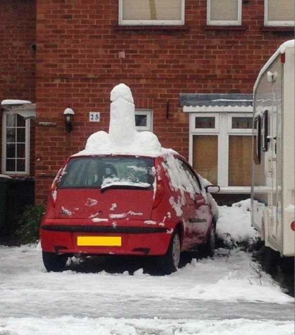 Snow Fun. .. Dickbutt's Car? Snow Fun Dickbutt's Car?